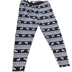 Fleece Lined Reindeer Leggings Plus sz 3X